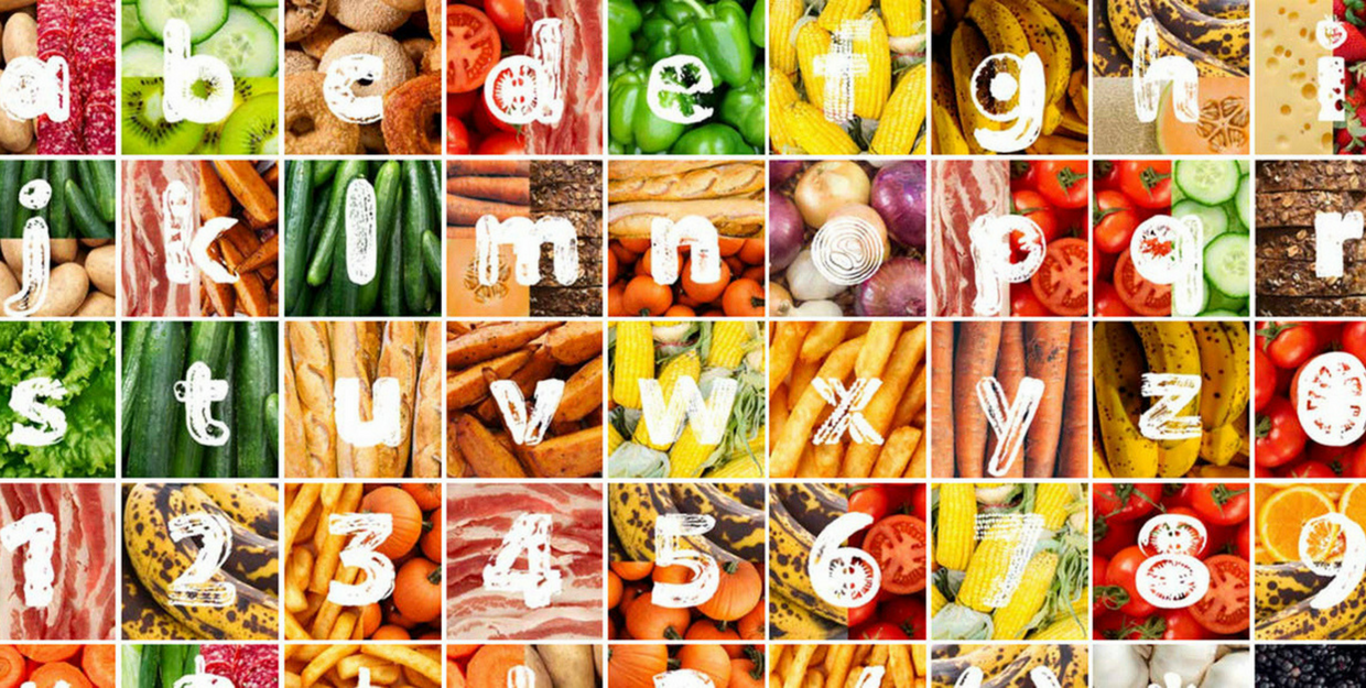 Morton Salt creates a font from discarded vegetables