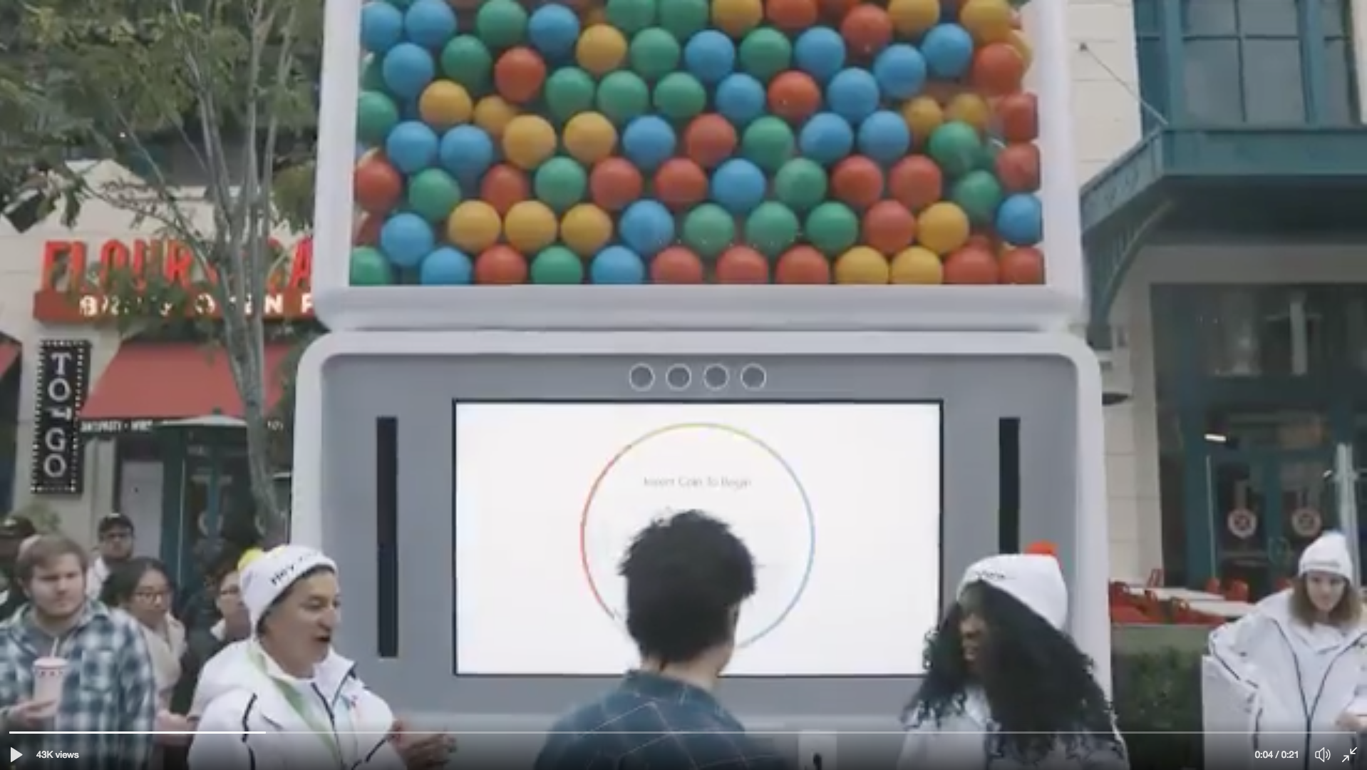 Google's AI Assistant powered gumball machine